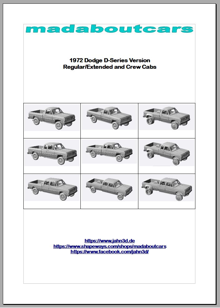 1972 Dodge D-Series Announcement