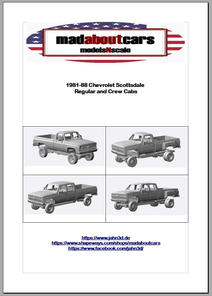 1981-88 Chevrolet Scottsdale Announcement